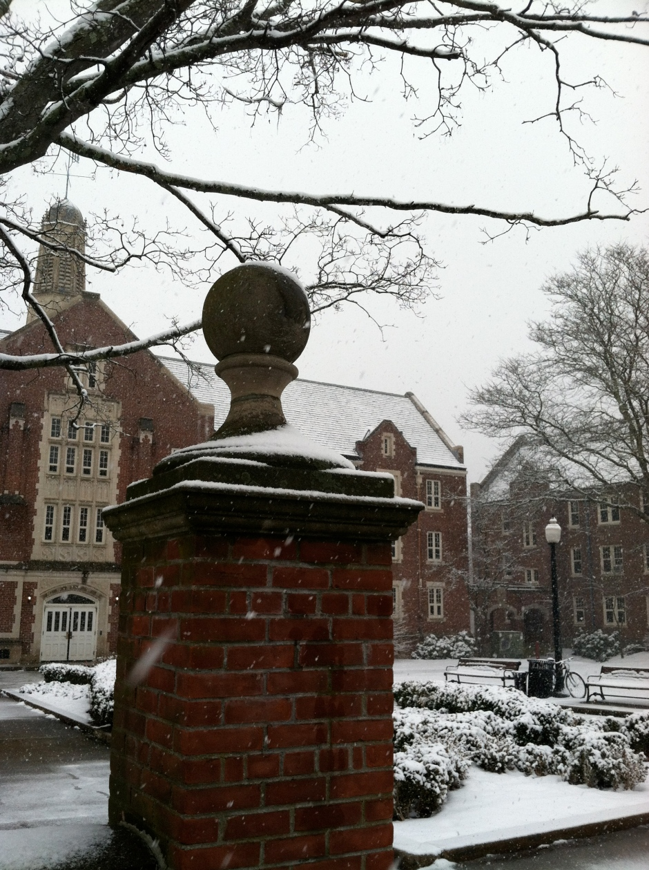 Snowy day in Storrs
