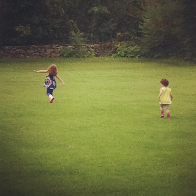 """Sister, let's run!"""